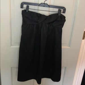 Black strapless BCBG dress